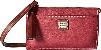 Dooney & Bourke Pebble Gingy Crossbody (Strawberry/Tan Trim) Cross Body Handbags