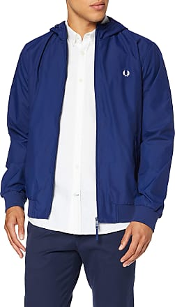 Fred Perry Mens J5513-hooded Brentham Jacket-600-s Hooded Jacket, Blue (Sapphire 600), Small