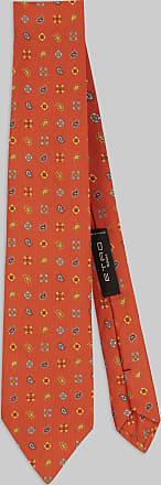 Etro Micro Paisley Silk Tie, Man, Orange