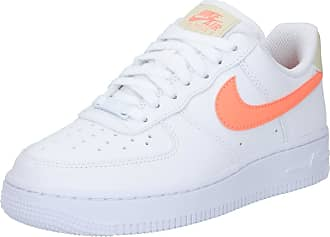 Nike Baskets basses Air Force 1 blanc / orange fluo