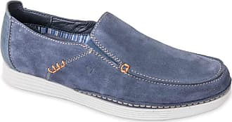 Valleverde 20801 Mens Casual Leather Loafers Blue Size: 8.5 UK