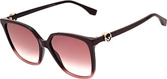 b8dfba2c6 Fendi Ff 0318 S - Óculos De Sol 8cq 3x Vinho Brilho/Vinho D