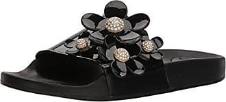 Marc Jacobs Womens Daisy Pave Aqua Slide Sandal, Black, 40 M EU (10 US)