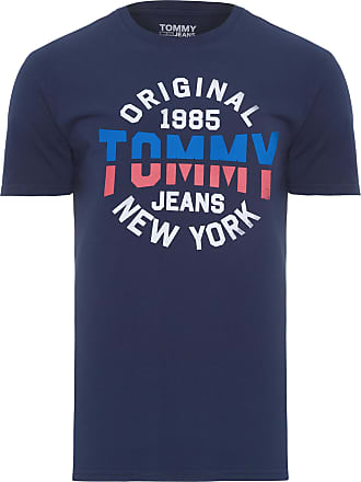 Tommy Jeans T-SHIRT MASCULINA ESSENTIAL ROUND - AZUL