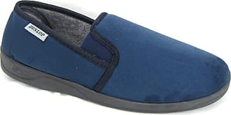 6d94180d036dc Dunlop Mens Dunlop Navy Blue Suede Look Comfortable Slippers Sizes 7 to 13  (12)