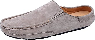 6582874fe Jamron Mens Comfortable Suede Carpet Slippers Mules Driving Loafers  Moccasins Khaki SN19058 UK9.5