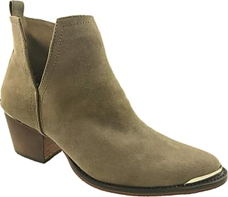 Glamorous Ladies Fashion Pull On Cut Out Faux Suede Cowboy Ankle Boots Brown Size UK 3-8 (3 UK)