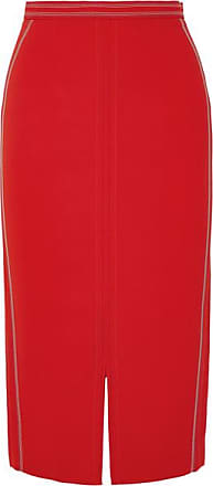 Roland Mouret Cady Midi Skirt - Red
