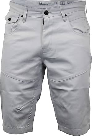 Crosshatch Mens Chino Shorts - Amalga Microscope (Light Cream) (W38)