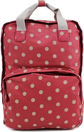 Your Dezire YDezire Ladies Backpack Rucksack School College Shoulder Laptop Bag Womens (Polka/Red)