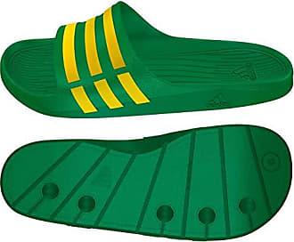 huge discount f336f 005aa adidas Duramo Slide Unisex Erwachsene Strand-  Poolschuhe, Grün -  grüngelb -
