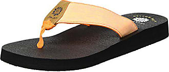 Yellow Box Womens Yinn Flip-Flop, Orange, 7.5 M US