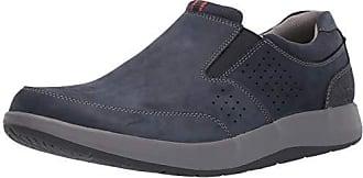 Clarks Mens Shoda Free Waterproof Slip-on Sneaker, Navy Nubuck, 100 M US