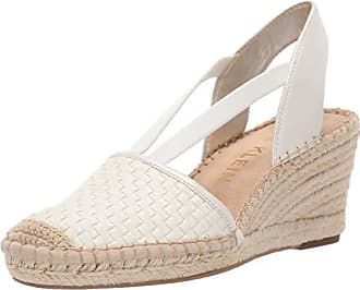 Anne Klein Womens Aneesa Espadrille Wedge Sandal, White, 10 M US