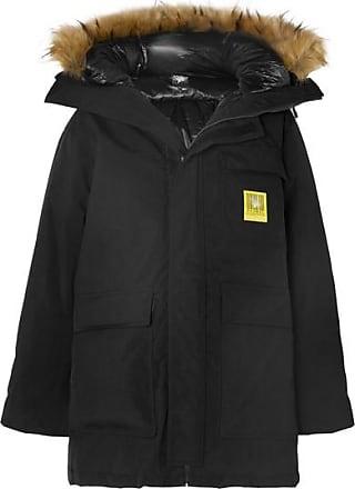 Brumal Hooded Faux Fur-trimmed Shell Down Parka - Black