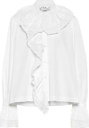 Victoria Beckham Ruffled cotton-poplin shirt