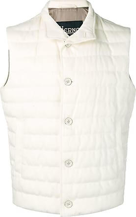 Herno padded button vest - White