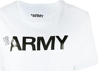 Yves Salomon - Army logo print crewneck T-shirt - Blue