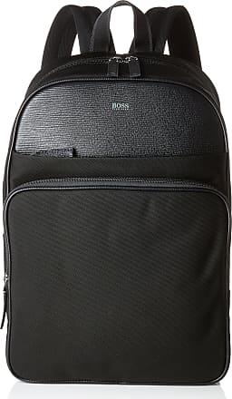BOSS Meridian_backp Oval, Mens Backpack, Black, 17x42x30 cm (B x H T)