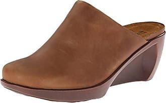 Naot Naot Womens Evening Wedge Pump, Saddle Brown Leather, 37 EU/6-6.5 M US