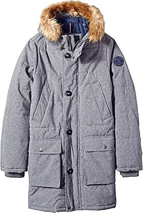 fb656833 Tommy Hilfiger Big & Tall Arctic Cloth Full Length Quilted Snorkel Parka,  Heather Grey,
