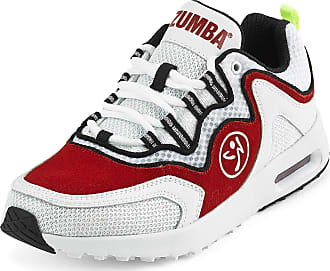 Zumba Athletic Air Classic Gym Fitness Sneakers Dance Workout Shoes for Women, Red, 6