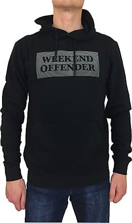 Weekend Offender Mens Hayworth Hoodie Reflective Prison Print Black (Medium)