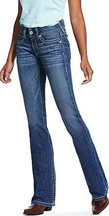 Ariat Womens R.E.A.L. Mid Rise Stretch Hannah Boot Cut Jeans in Sunstruck Cotton, Size 29 X-Long, by Ariat