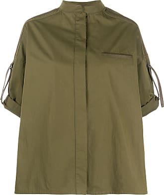 Yves Salomon mandarin collar shirt - Green