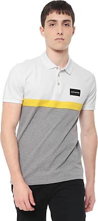 66e47ed92 Calvin Klein Jeans Camisa Calvin Klein Jeans Reta Faixa Aplicada  off-white/Cinza