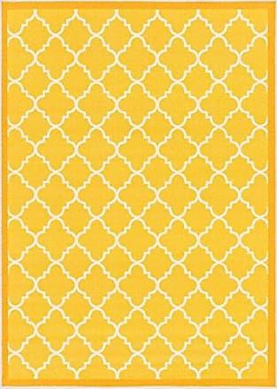 Well Woven 65115 Kings Court Brooklyn Trellis Modern Gold Geometric Lattice 5 x 7 Indoor/Outdoor Area Rug