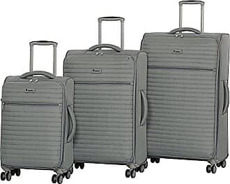 IT Luggage Quilte 3-Piece Lightweight Expandable Set, Flint Grey