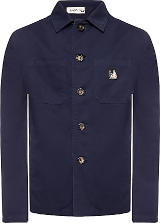 Lanvin Logo Jacket Mens Navy Blue