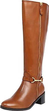 Miss KG – Stiefel in Creme mit Blockabsatz
