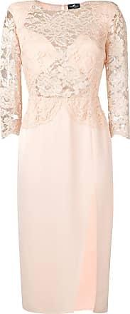 Elisabetta Franchi Vestido com renda - Rosa