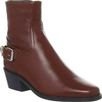 Office Adventure Western Buckle Boot Tan Leather - 4 UK