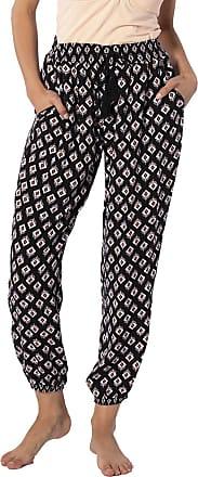 Rip Curl ODESHA Pant Women,Cloth Trousers,Summer Trousers,Harem Trousers,Elastic Waistband,Long,Lightweight,Black,M