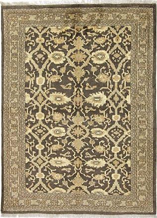 Nain Trading 159x111 Persian Isfahan Rug Beige/Dark Brown (Hand-Knotted, Iran/Persia, Wool)