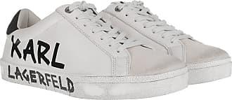 Karl Lagerfeld Skool Brush Logo Low Lace Sneaker White