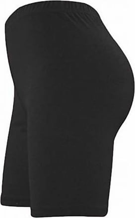 Be Jealous Womens Ladies Stretchy Lycra Plus Sizes Cycling Hot Pants Leggings Tights Shorts Black