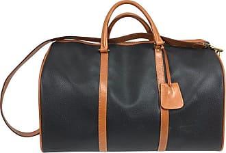 be67b02044 Bottega Veneta Black And Tan Leather Carry On Duffel Bag