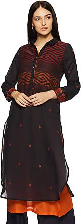 Biba Womens Cotton Straight Kurta (TANABANA14823_ Black_ L (36))