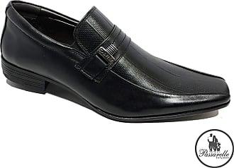 Calvest Sapato Social Calvest Em Couro Com Textura Masculino - Preto - 38