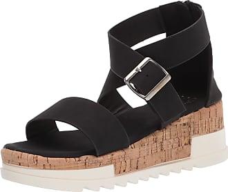 Yoki Womens BRENDA-59 Wedge Sandal, Black, 4.5 UK