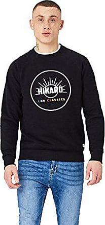 HIKARO Herren Pullover mit gro/ßem Logo