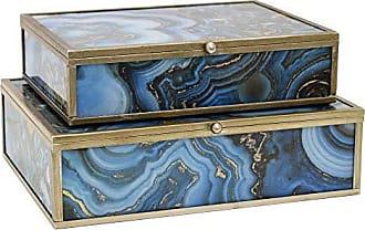 Three Hands 2.5 Glass/Metal Framed Box Set/2 in Blue