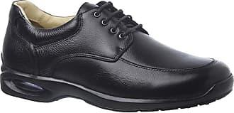 Doctor Shoes Antistaffa Sapato Masculino 1850 em Couro Floater Preto Doctor Shoes-Preto-37