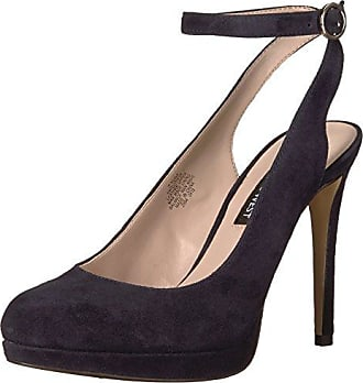 Nine West Womens QUIANIYA Suede Pump, Navy, 8 M US