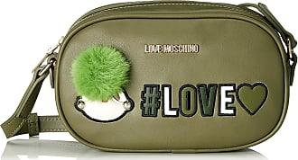 Love Moschino Borsa Pu, Womens Shoulder Bag, Green (Verde), 6x13x21 cm (B x H T)