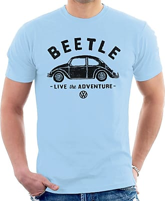 Volkswagen Beetle Black Live The Adventure Mens T-Shirt